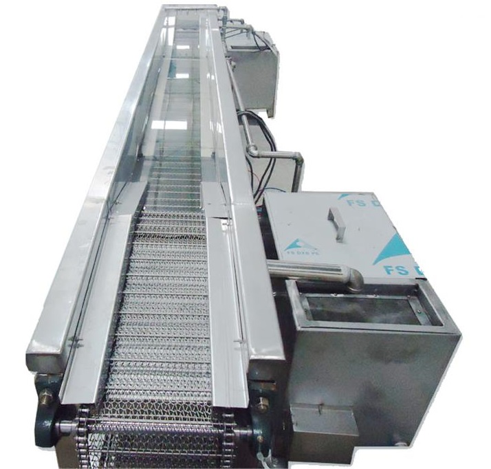 Ultrasonic cleaning and drying equipment for glass products / protective film